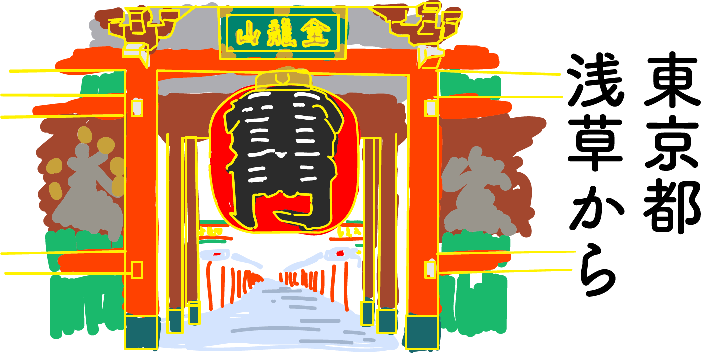 東京都浅草から